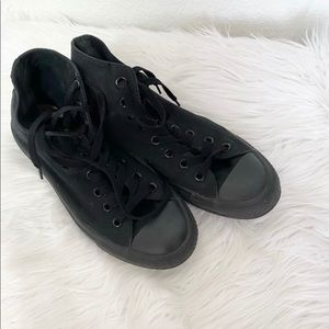 Converse All Star High Top Black Canvas Sneakers 7